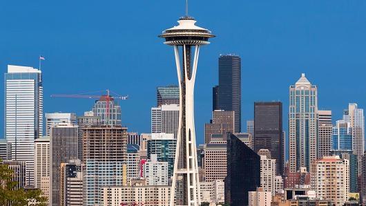 Tòa tháp Space Needle ở Mỹ