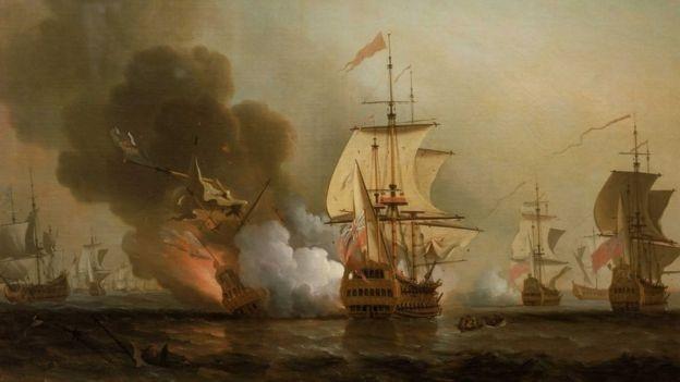 Tàu San Jose bị đắm ngoài khơi thành phố Cartagena