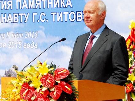 Ngài Vnukov Konxtatin, Đại sức Đặc mệnh toàn quyền Liên bang Nga tại Việt Nam phát biểu tại lễ khánh thành.