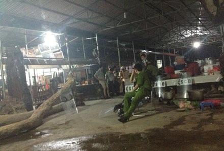 Cơ quan CSĐT (Bộ CA) và các đơn vị nghiệp vụ đánh án Minh sâm và đồng bọn đêm 13/8/2014.