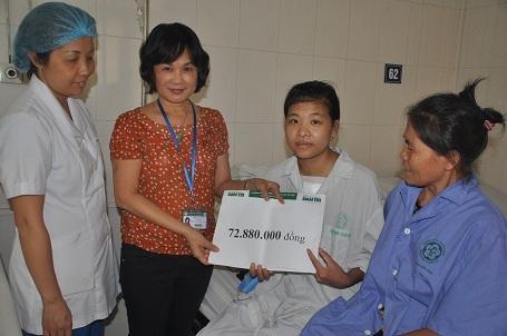 Trong tổng số 72.880.000 An nhận được từ bạn đọc Dân trí giúp đỡ (Tuần 2 và tuần 3 tháng 6), gia đình đã trích ra 60 triệu đồng để giúp đỡ các hoàn cảnh khó khăn khác.