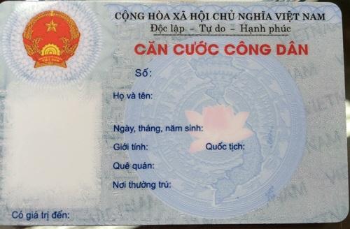 Mặt trước thẻ Căn cước công dân (Ảnh: T.K).