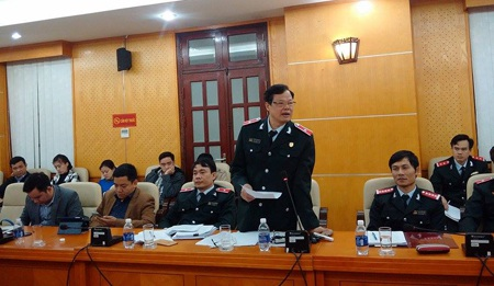 Ông Phạm Trọng Đạt trả lời tại cuộc họp báo (Ảnh: T.K.)