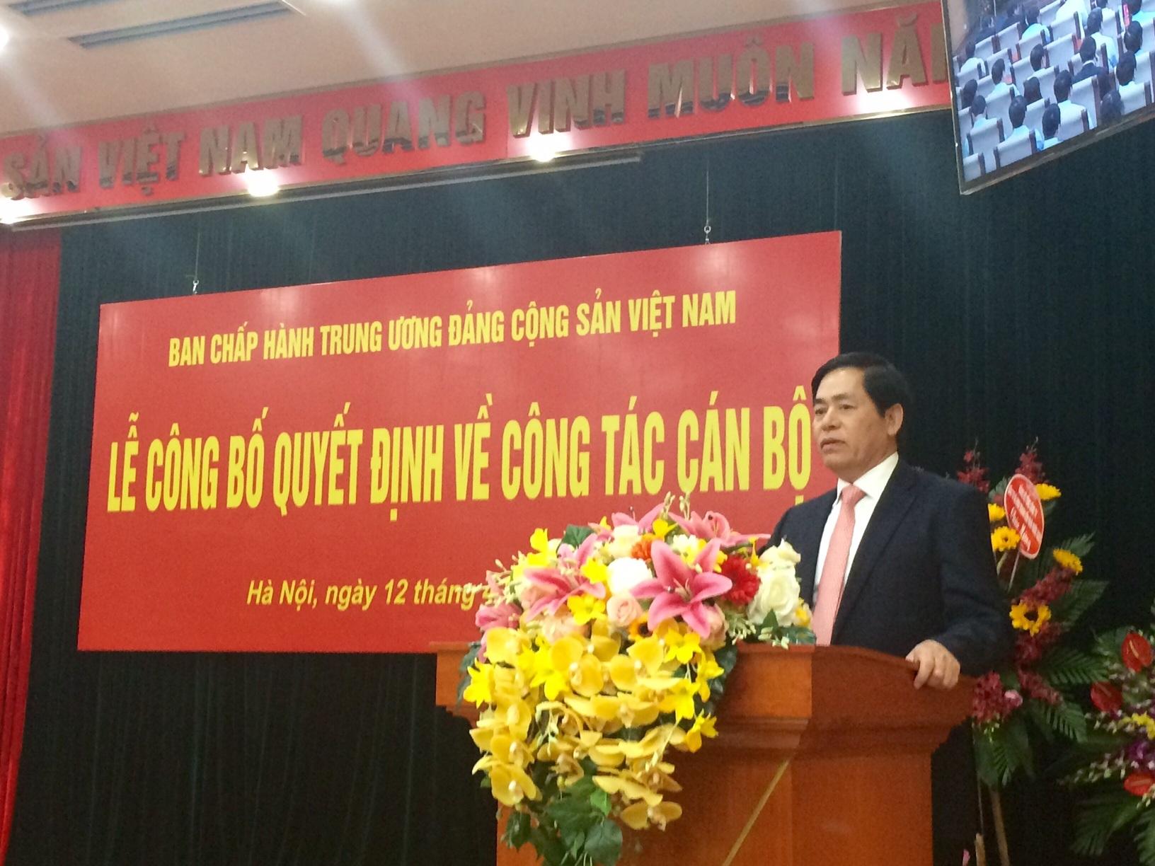 Ông Phạm Viết Thanh được phân công giữ chức Bí thư Đảng ủy Khối doanh nghiệp Trung ương (Ảnh: T.K)