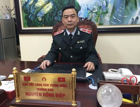 Ông Nguyễn Hồng Điệp trong một lần trả lời phỏng vấn báo Dân trí (Ảnh: T.K)