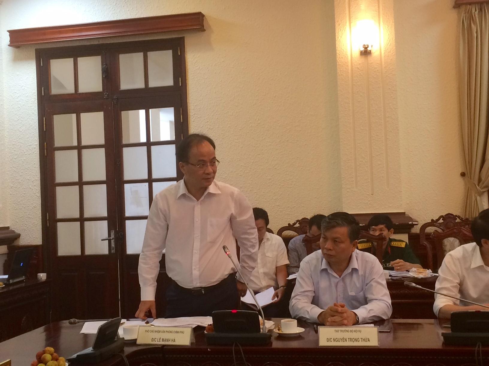 Ông Lê Mạnh Hà phát biểu tại cuộc họp (Ảnh: T.K)