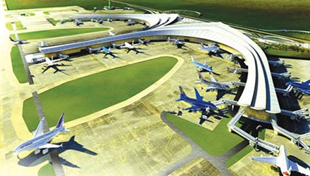 Mô hình sân bay Long Thành (ảnh minh họa)