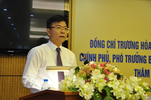Bộ trưởng Bộ Tư pháp Lê Thành Long (Ảnh: Đ.Minh)