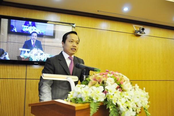 Thứ trưởng kiêm người phát ngôn Bộ Tư pháp Trần Tiến Dũng.