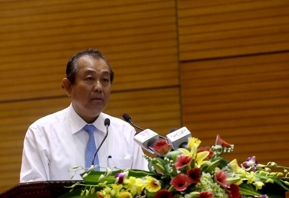 Phó Thủ tướng Trương Hòa Bình phát biểu tại hội nghị (Ảnh: B.Đ)