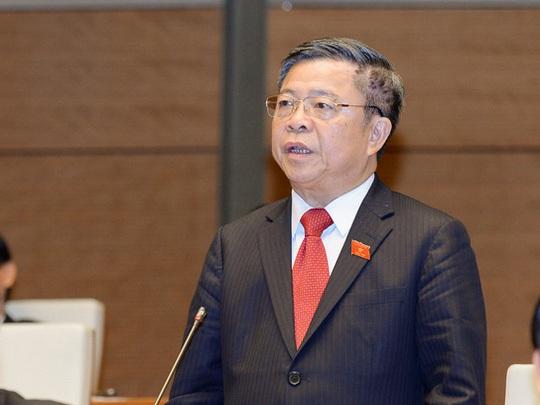 Ông Võ Kim Cự trong một lần phát biểu trước Quốc hội (Ảnh: Quochoi.vn)