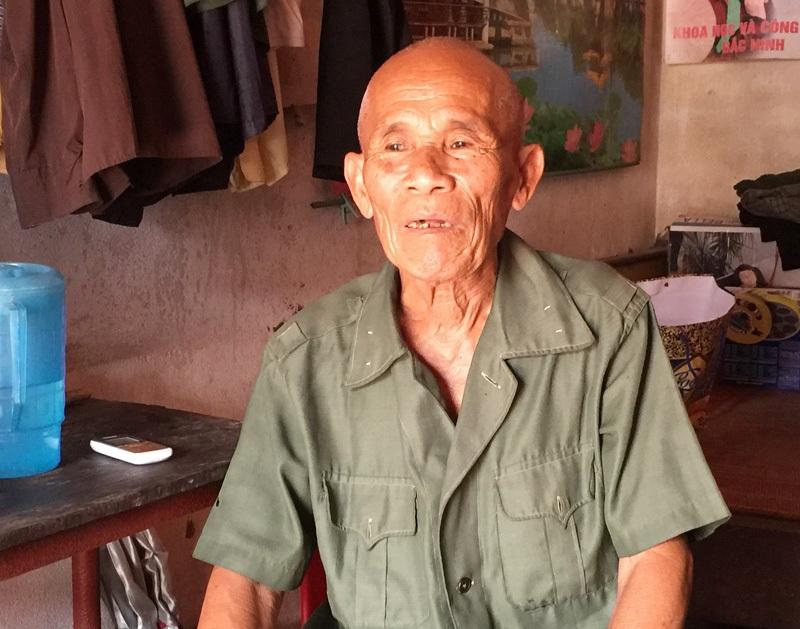Cụ ông 80 tuổi Trần Văn Thêm hơn nửa thế kỷ mang nỗi oan giết người (Ảnh: Bá Đoàn)