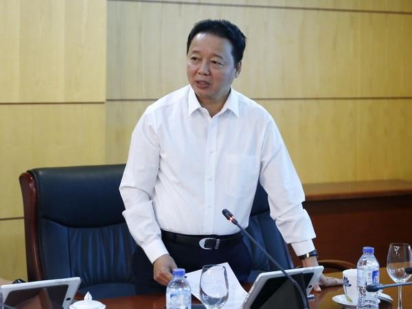 Bộ trưởng Bộ Tài nguyên và Môi trường Trần Hồng Hà (Ảnh: Bộ TNMT)