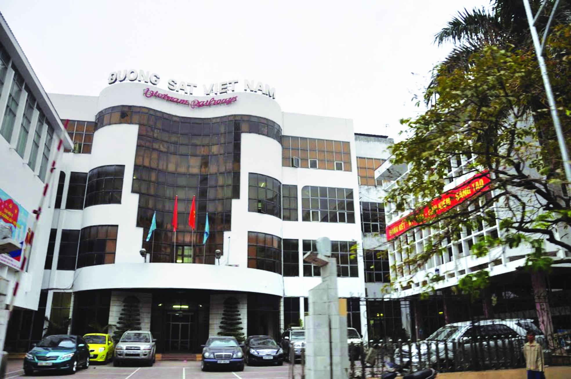 Trụ sở Tổng công ty Đường sắt Việt Nam trên đường Lê Duẩn, Hà Nội.