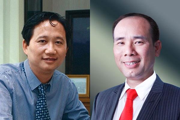 Cặp đôi Trịnh Xuân Thanh - Vũ Đức Thuận (phải) từng sát cánh bên nhau lãnh đạo Tổng công ty cổ phần xây lắp Dầu khí Việt Nam (PVC) thuộc Tập đoàn Dầu khí Việt Nam, dẫn tới thua lỗ gần 3.300 tỷ đồng.