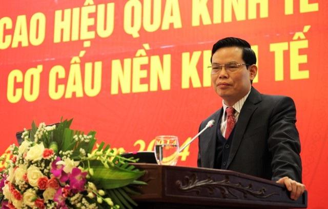 Bí thư Tỉnh ủy Hà Giang Triệu Tài Vinh phát biểu tại một hội nghị (Ảnh: Ban Kinh tế Trung ương)