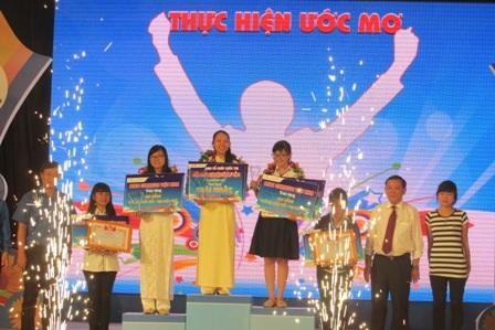 Các thí sinh xuất sắc tại chung kết cuộc thi Thực hiện ước mơ ngày 23/3