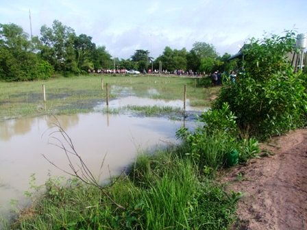 Hiện trường nơi em Thanh và Huệ bị chết đuối