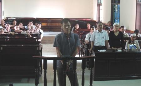 Bị cáo Lê Hạnh tại phiên tòa