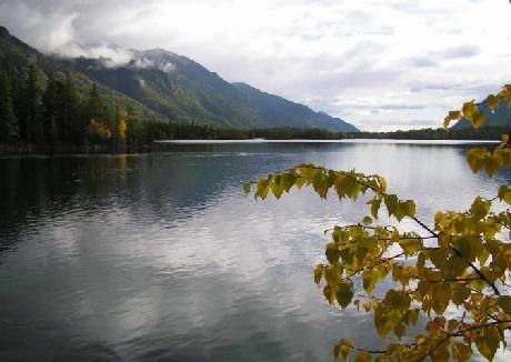 Cảnh sắc đất trời vào thu tuyệt đẹp ở hồ Baikal