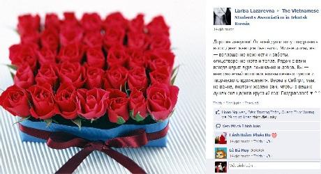 Tình cảm của những người bạn Nga dành cho nữ sinh Việt - Ảnh: Đoàn LHS VN tại Irkutsk, Nga