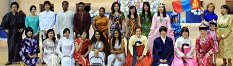 Ảnh sinh viên trường SolBridge nhân ngày văn hóa quốc tế