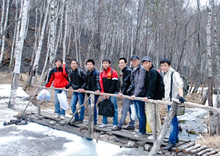 Những chàng du học sinh Việt trên hành trình đến Bailkal - Ảnh: Văn Tứ