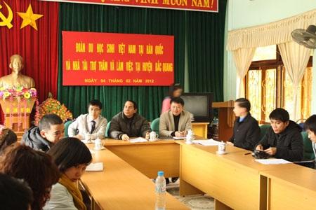 Những chuyến từ thiện trong nước đã trở nên quen thuộc với các bạn du học sinh Việt tại Hàn Quốc