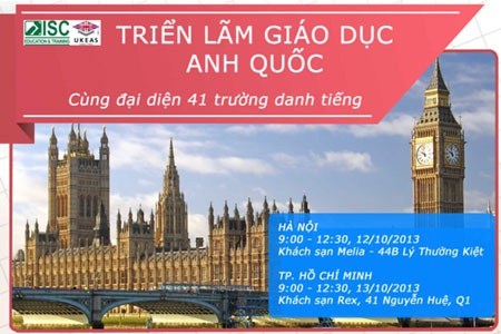 Tìm học bổng Anh Quốc miễn phí cùng ISC-UKEAS
