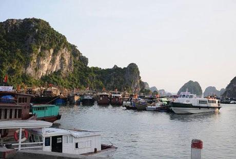 Nơi ngưng đậu của tàu thuyền khi đến với Cô Tô. (ảnh Nhữ Trang)