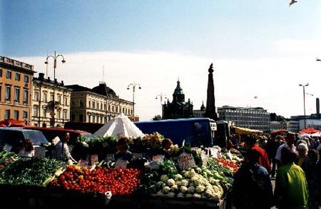 Chợ Kauppatori, Helsinki, Phần Lan. Ảnh: Internet