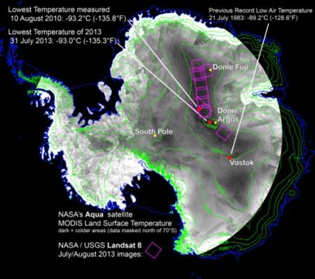 """Nơi lạnh nhất Trái đất """"lập"""" kỷ lục mới -93.2 độ C"""