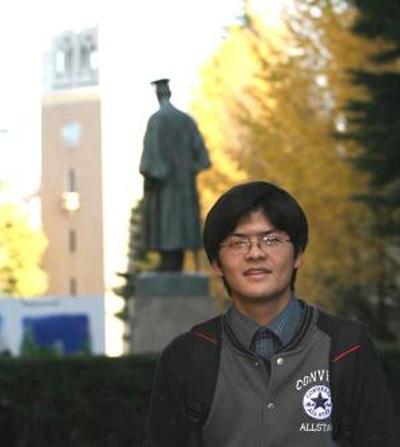 Chàng sinh viên Lưu Xuân Khôi tại Đại học Waseda