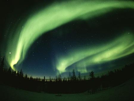 Ánh sáng Phương Bắc trên bầu trời gần