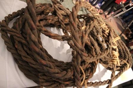 Những sợi dây được bện bằng da trâu dùng để thuần dưỡng và bắt voi.