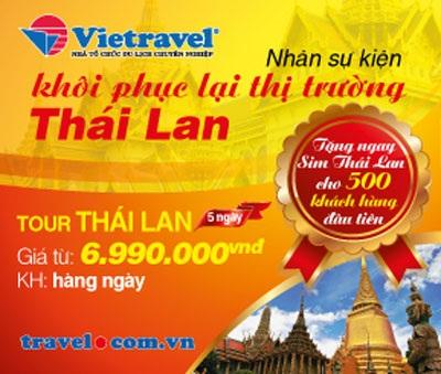 Tour Thái Lan trở lại với khuyến mãi hấp dẫn