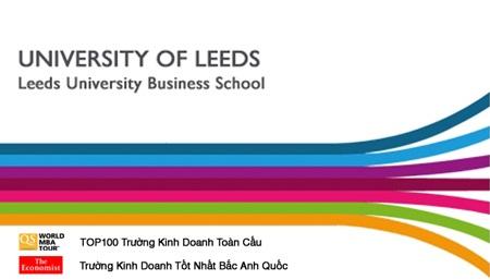Các chương trình đào tạo của Leeds Business School được
