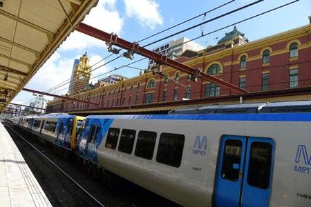 Ga Flinders tại thành phố Melbourne, bang Victoria