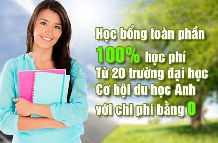 Học bổng 100% học phí chương trình thạc sĩ từ