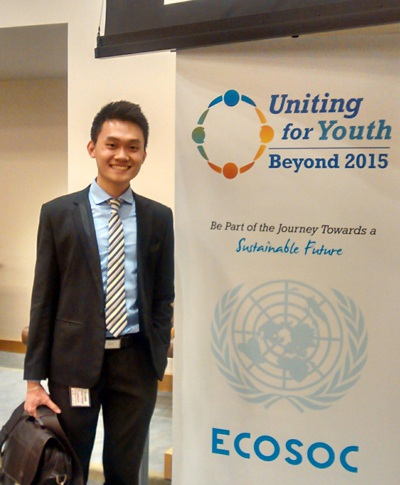 Sinh viên Trần Hà Dương đại diện thanh niên Việt