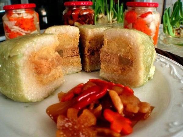 Lượng tinh bột trong 1/8 chiếc bánh chưng đã tương đương với lưng bát con cơm tẻ.