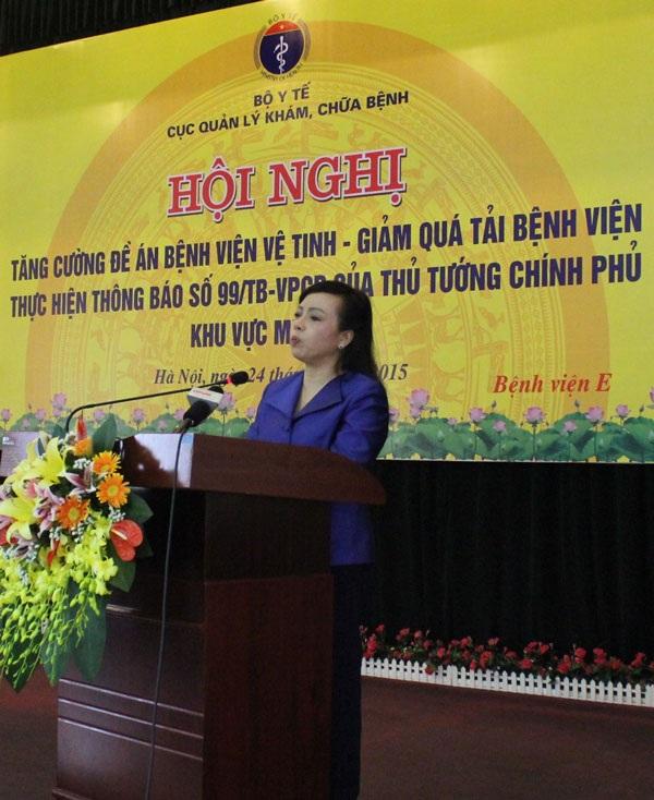 Bộ trưởng Bộ Y tế Nguyễn Thị Kim Tiến tại hội nghị.