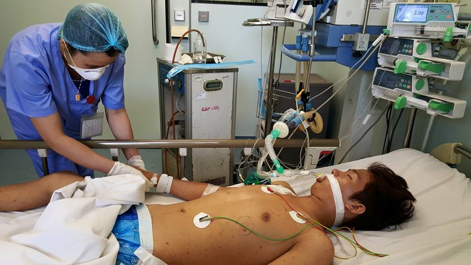 Bệnh nhân vẫn hôn mê sau 4 ngày nhập viện. Ảnh: T.C