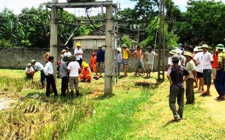 Trạm điện tại xã Hợp Thắng nơi liên tiếp xảy ra sự cố rò rỉ điện giật trâu bò của người dân