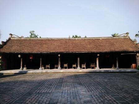 Đình làng cổ được đưa từ huyện Thanh Liêm, tỉnh Hà Nam về