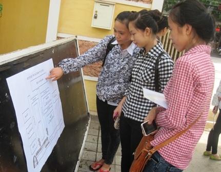 Các thí sinh xem sơ đồ phòng thi kỳ thi tốt nghiệp THPT năm 2014