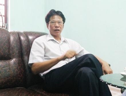 Ông Lê Xuân Bảy - Chủ tịch UBND xã Mỹ Lộc.