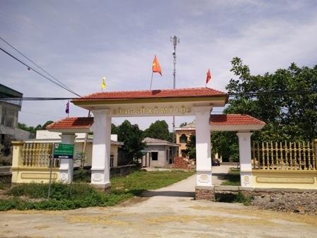 Trụ sở UBND xã Mỹ Lộc nơi ông Bảy đang công tác.