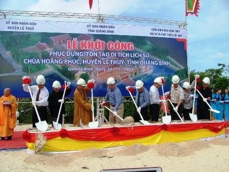 Lễ khởi công xây dựng di tích lịch sử chùa Hoằng Phúc