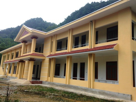 Khu nhà ở bán trú vừa hoàn thành tại Trường THCS & THPT Hóa Tiến.